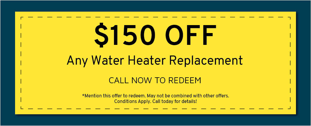 $150 Off Water Heater Replacement