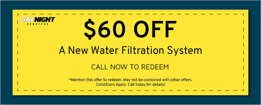 $60 off water filtration